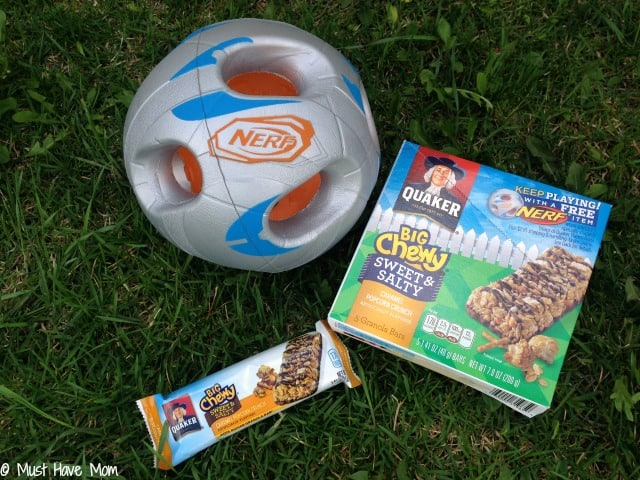 Free Nerf Ball with Quaker Big Chewy Bars