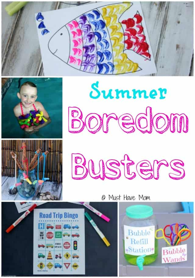 Fun Summer Boredom Busters for Kids! Fun Kids Activities for Summer with craft DIY and Ideas!