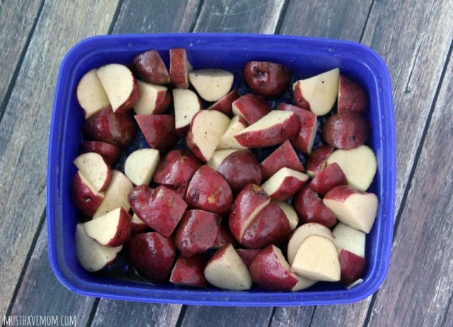 how to cook baby potatoes on the grill