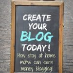 How Stay At Home Moms Can Earn Money Blogging! How one mom started blogging and makes a living off it. She's sharing her secrets and showing you how to make money blogging!