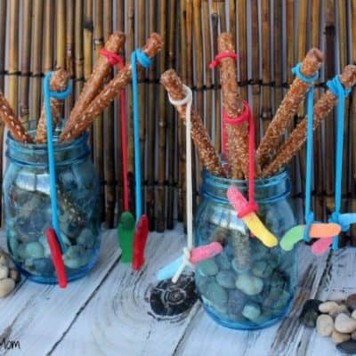 Pretzel Fishing Rods Party Food Idea