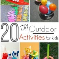 20 DIY Outdoor Activities For Kids!
