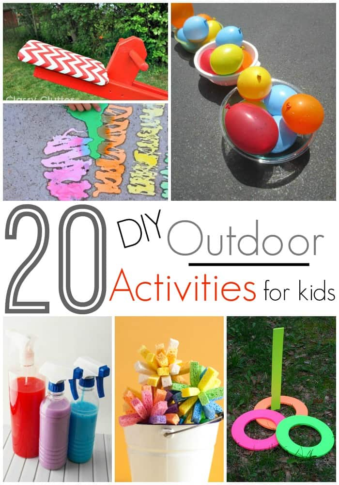 20 DIY Outdoor Activities For Kids! Love these outdoor play ideas and love it even more that I can make them myself!