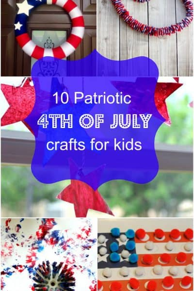 10 Patriotic 4th of July crafts for kids. Love these July 4th Crafts for kids ideas. The sun catchers craft is my favorite.