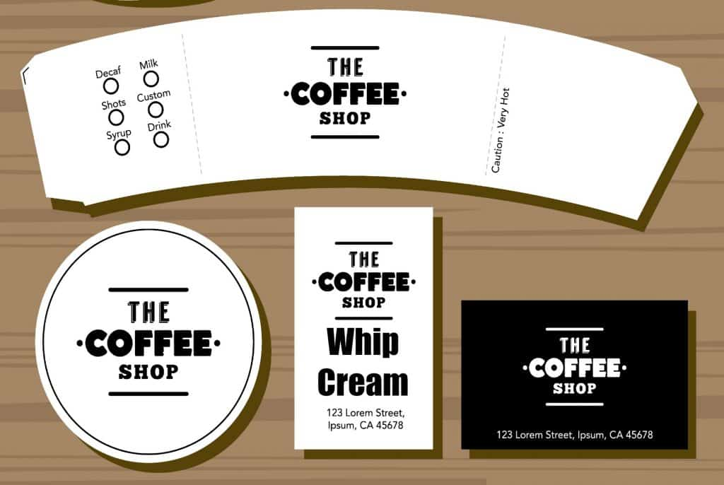 Free Pretend Play Coffee Shop Printables