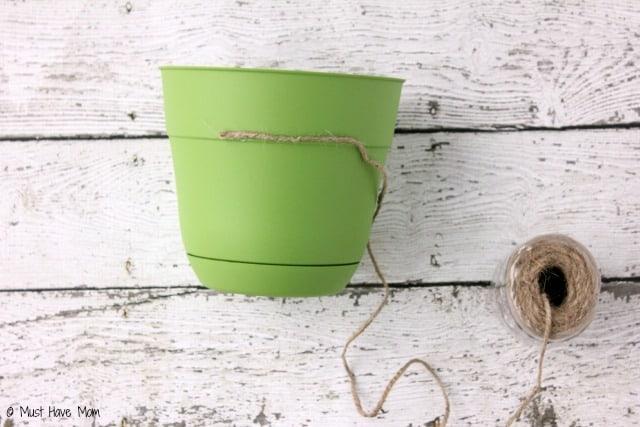 DIY Flower Pot Tutorial - Easy Flower Pot Using Jute