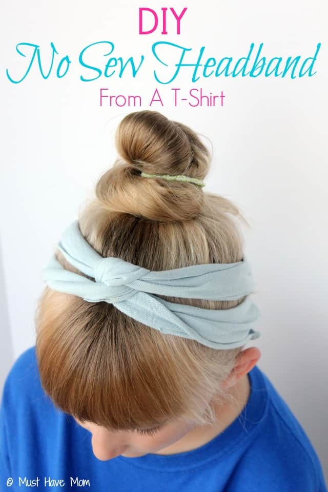 DIY No Sew Headband From A T-Shirt Tutorial