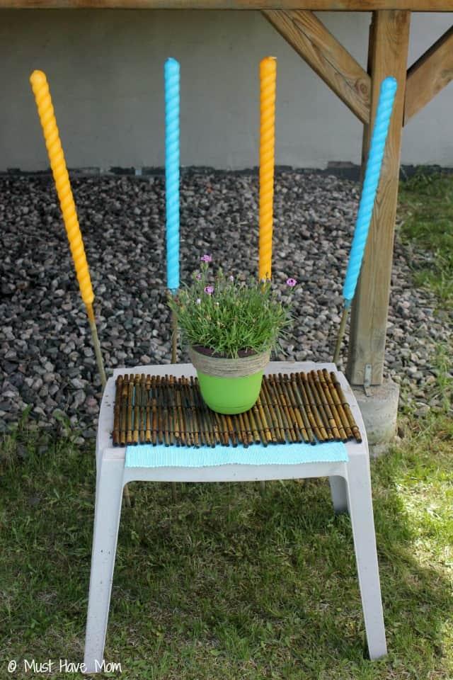 DIY Outdoor Oasis with DIY Flower Pot tutorial too!