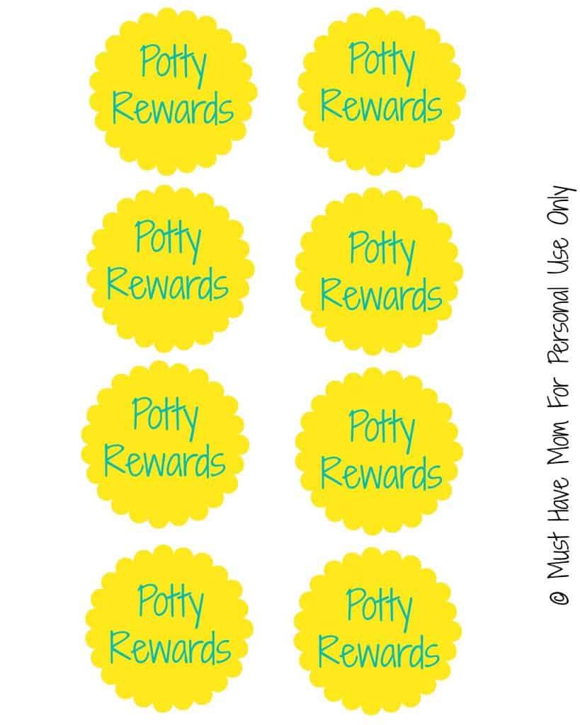 Free Potty Training Rewards Sign