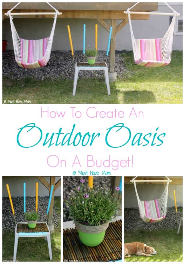 How To Create An Outdoor Oasis On A Budget!