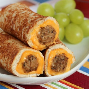 Grilled Cheese Mini Meatball Rollups