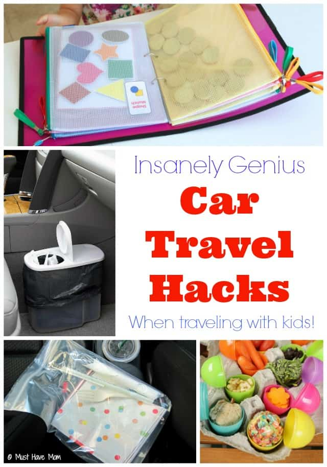 insanely genius car travel hacks when traveling with kids. Black Bedroom Furniture Sets. Home Design Ideas