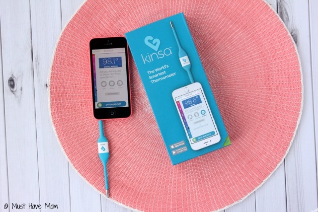 Kinsa Thermometer tracks your symptoms, temperatures, and more to easily care for a sick child! Plus homemade pedialyte recipe!