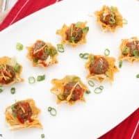 Mini Taco Salad Bites Recipe ~ Easy Summer Lunch Idea!