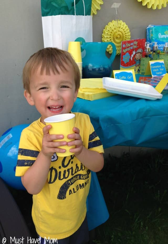 Potty Training Party Tips Encourage drinking lots of fluids so kids need to go potty often