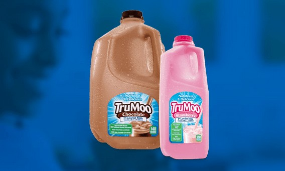 TruMoo chocolate milk and TruMoo strawberry milk