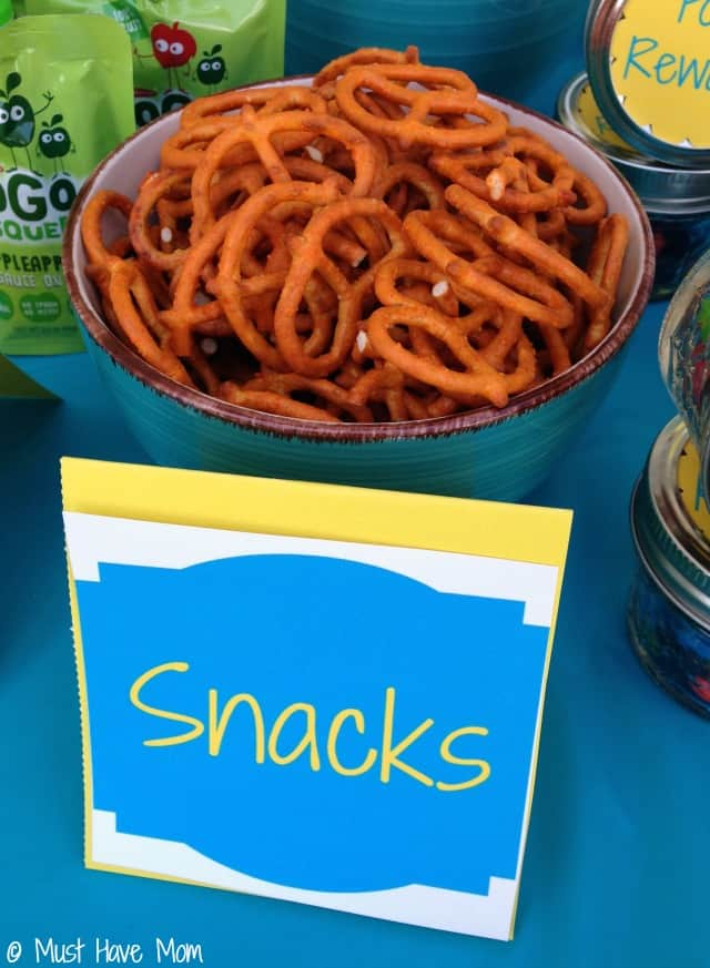 Serve salty snacks while potty training to encourage increased fluid intake. Great potty training tip!