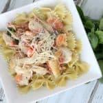 One Skillet Italian Chicken & Garlic Cream Sauce Recipe