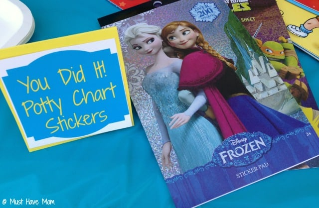 You Did it! Potty Chart Stickers as a favor at potty training party!