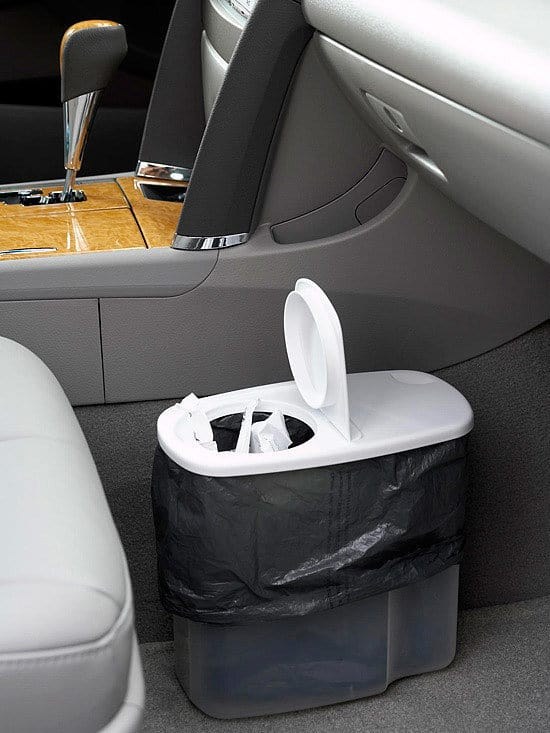 Car Travel Hacks Car Trash Can Idea for a garbage can in your car