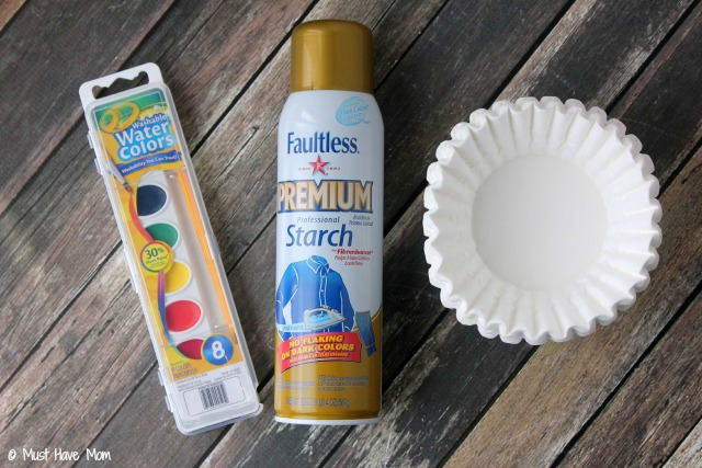 Easy  Step Diy Paper Bowls Kids Craft Idea Just Use Coffee Filters
