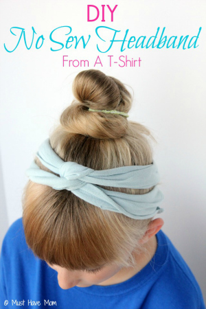 DIY-No-Sew-Headband-From-A-T-Shirt-Tutorial