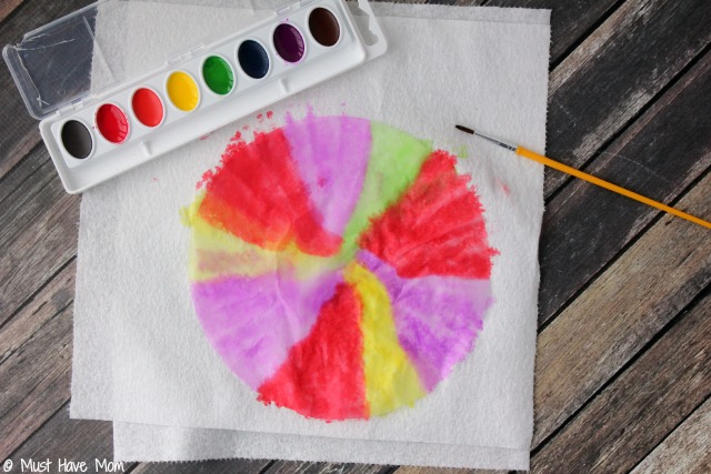 Easy 3 Step DIY Paper Bowls Kids Craft Idea Just Use Coffee Filters Watercolor