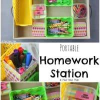 DIY Homework Station Idea