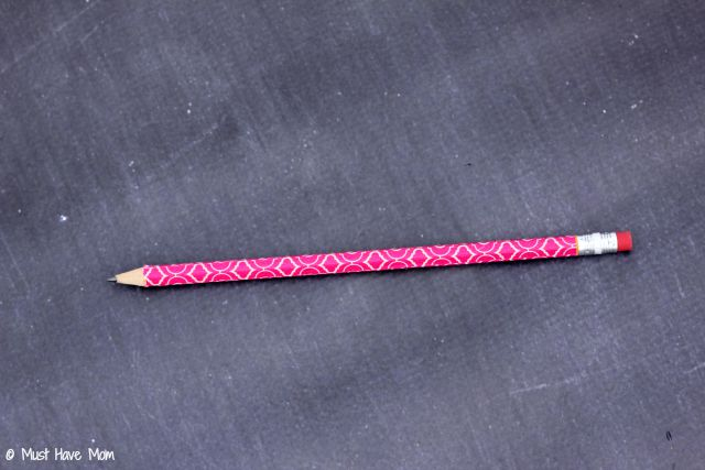 DIY Washi Tape Pencils Tutorial.  Custom pencils on a dime! Personalized school supplies too!