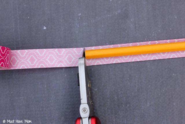DIY Washi Tape Pencils Tutorial.  Custom pencils on a dime! Personalized school supplies too!