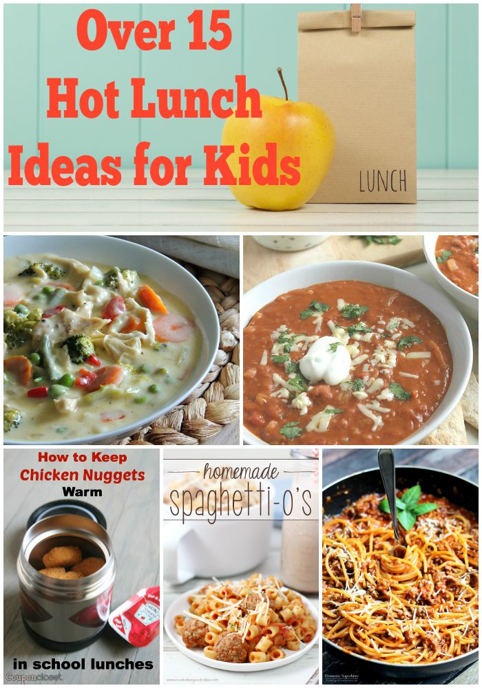 Over 15 Thermos Lunch Ideas For Kids! Skip the boring sandwiches and send them with these hot lunch ideas instead!