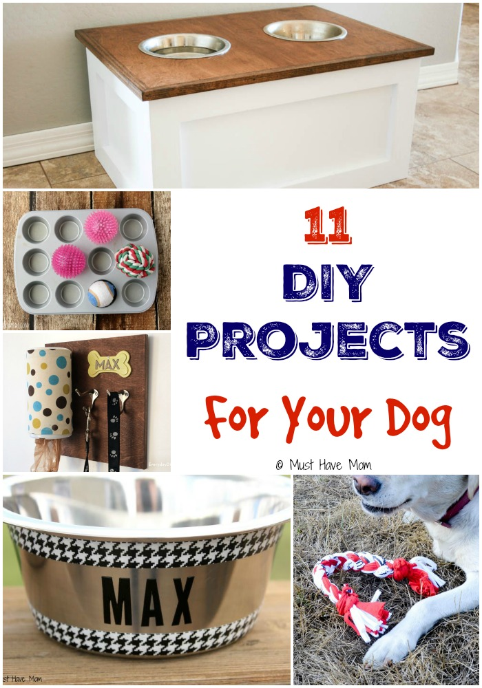 11 DIY Projects For Your Dog! Spoil your dog with these fun do it yourself ideas for dogs! Pet beds, dog bowls, dog collar, dog games and more! #CesarHomeDelights