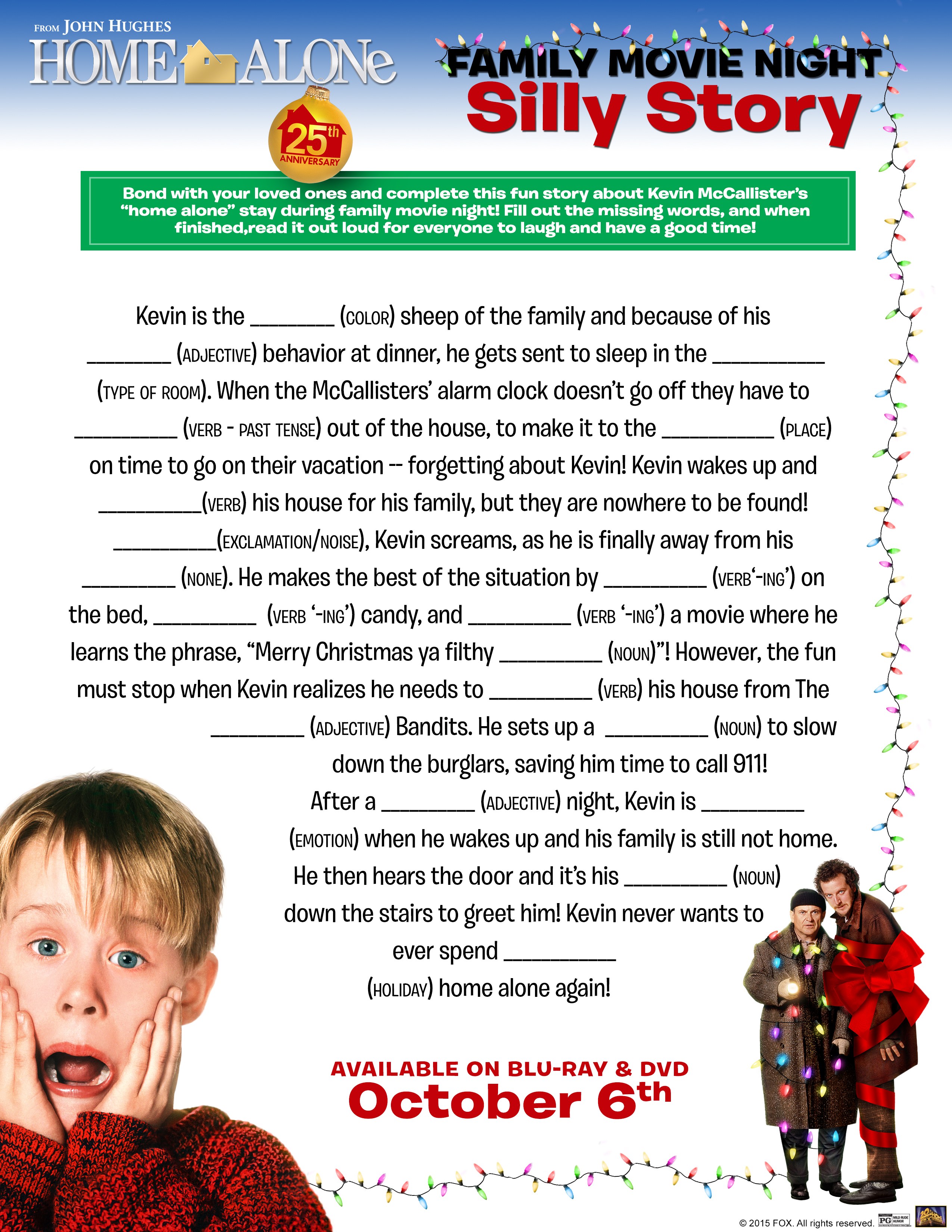 Home Alone Ultimate Collectors Edition Free Activity Printables