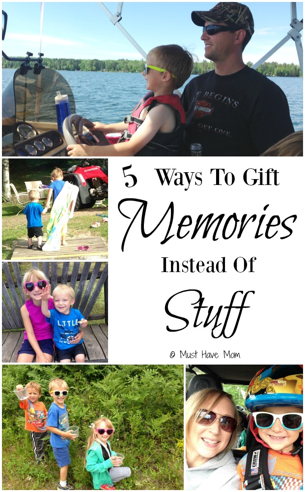 5 Ways To Gift Memories Instead Of Stuff! this Christmas! Forgo all the extra stuff that no one needs and do this instead!