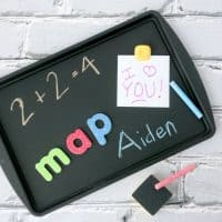 DIY Magnetic Chalkboard Activity Tray! Perfect For Sick Days On The Couch!