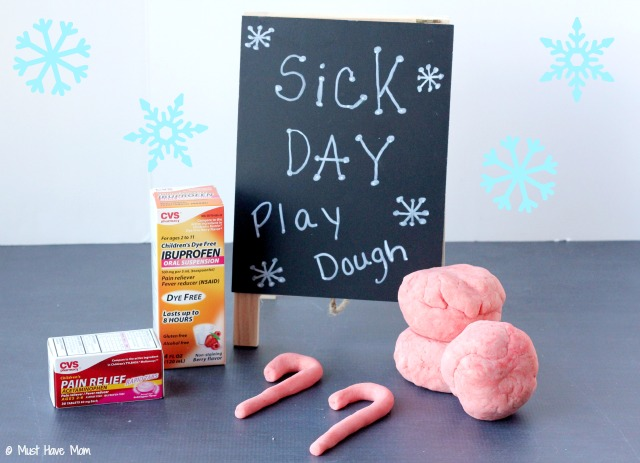 Homemade Peppermint & Eucalyptus Sick Day Play Dough For Sick Kids to Have Quiet Play and Help Clear Up Their Sinuses At The Same Time!