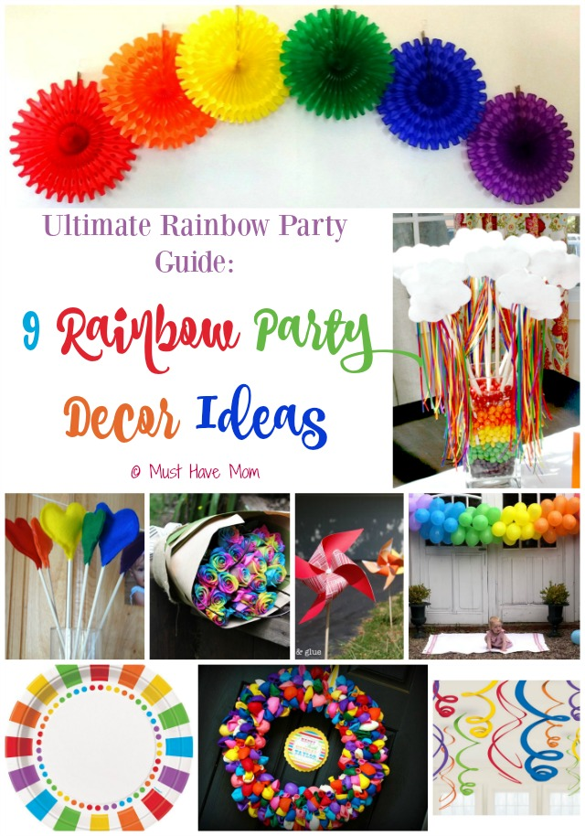 Ultimate Rainbow Party Guide 9 Rainbow Party Decor Ideas. Great rainbow decor ideas that you can make yourself or buy!
