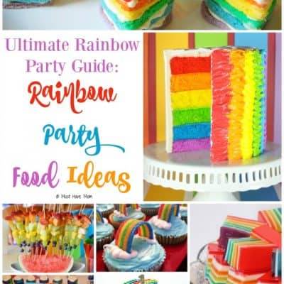 The Ultimate Guide To Throwing A Rainbow Party! Rainbow Ideas, Food, Decor, Games & More!