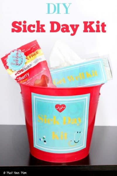 DIY Sick Day Kit With Free Printables!