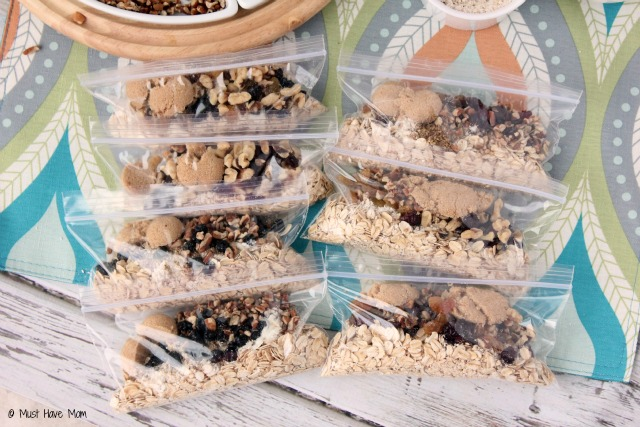 DIY Instant Oatmeal Packets with Instructions and Ingredient Ideas. Assemble them and put them in the pantry for quick breakfasts or take them with you on the go! Heart healthy breakfast and it's homemade convenience food!