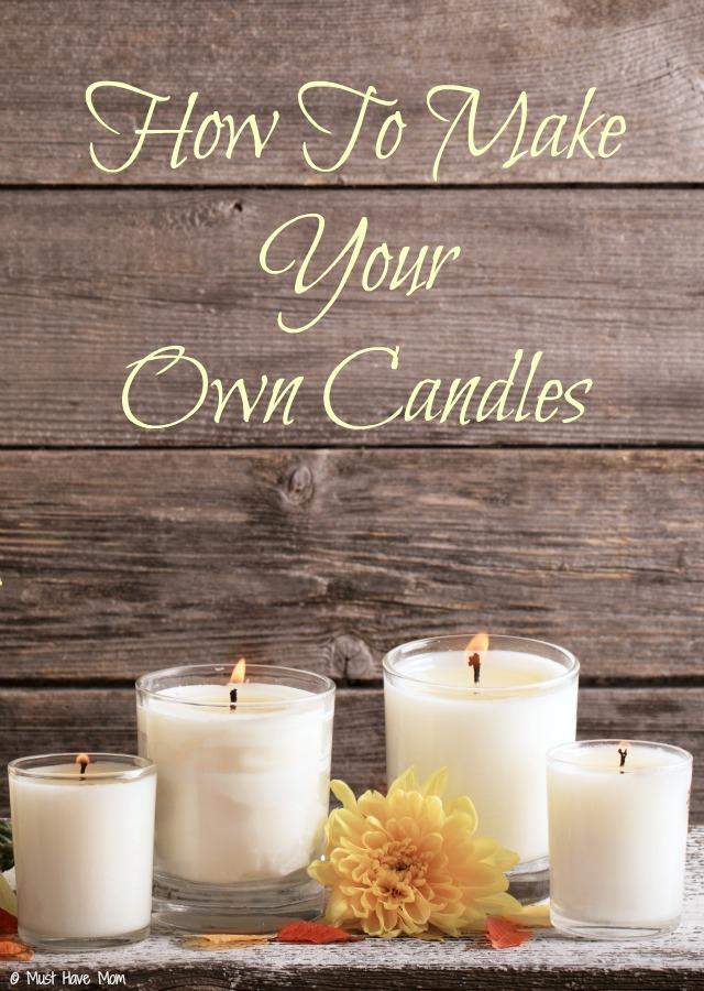 How To Make Your Own Candles Tutorial. Make Your Own Scented Candles Using  Soy Wax