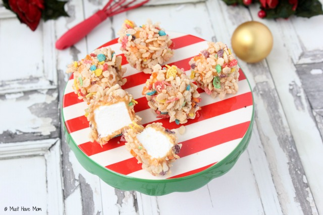 Marshmallow Caramel Rice Krispies Treats Recipe! Just like my mom always made! SO yummy. I always get asked for this recipe!