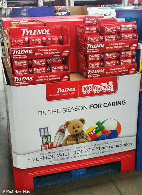 Tylenol and Toys For Tots at Sam's Club