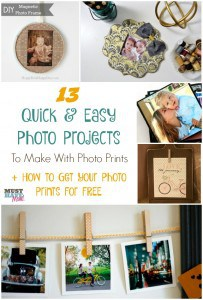 13 Quick and Easy Photo Projects To Make with 4x6 and 4x4 photo prints! plus how to get your prints for free every time! How did I not know this???