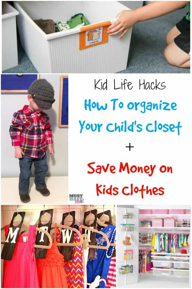 Kids Life Hacks How To Organize Your Childu0027s Closet + Save Money On Kids  Clothes.