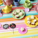 PB&J Doll Tea Party With Free Printable Doll Tea Bags & Paper Plates!