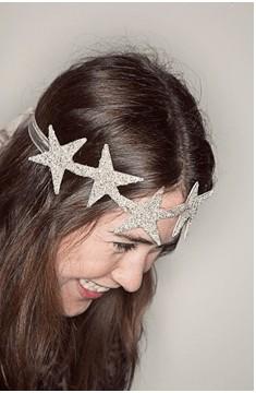 DIY Glittery Star Headband