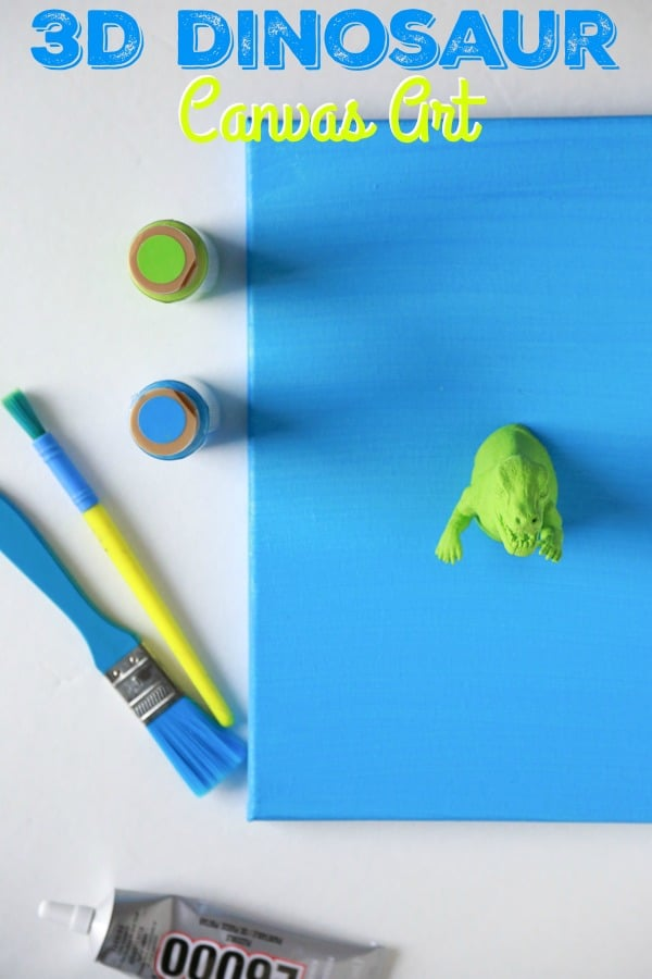 3D Dinosaur Canvas Art DIY
