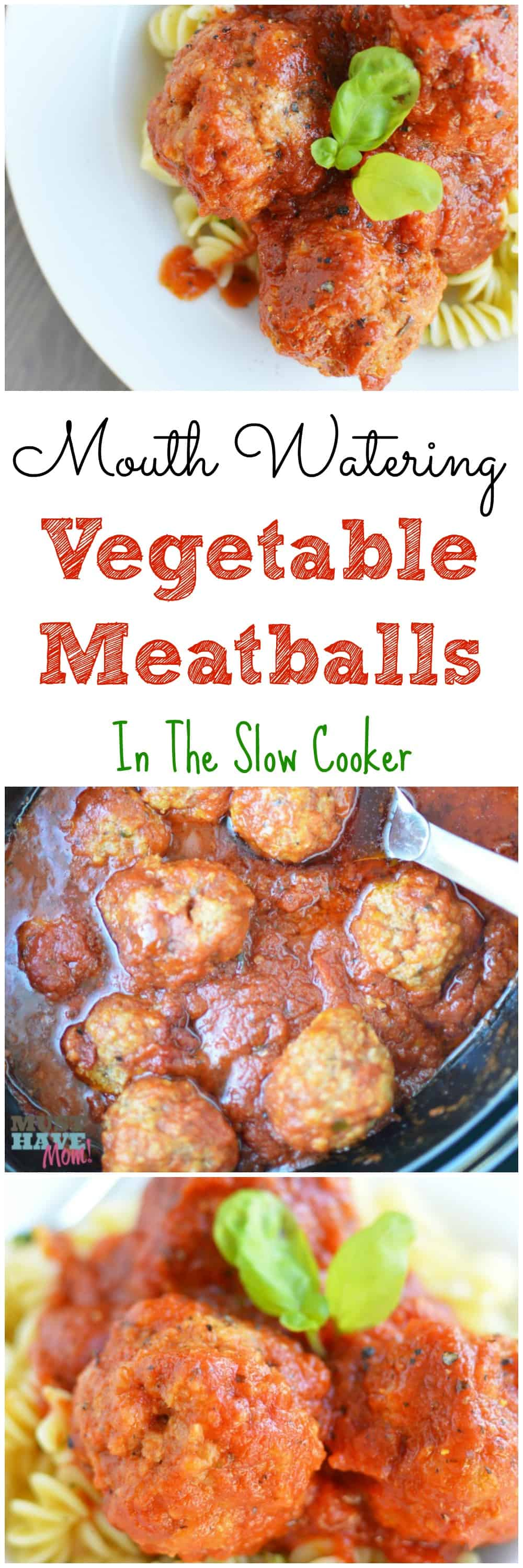 Mouth watering veggie meatballs in a slow cooker! This crock pot vegetable meatballs recipe is to die for! Step by step instructions and photos too!