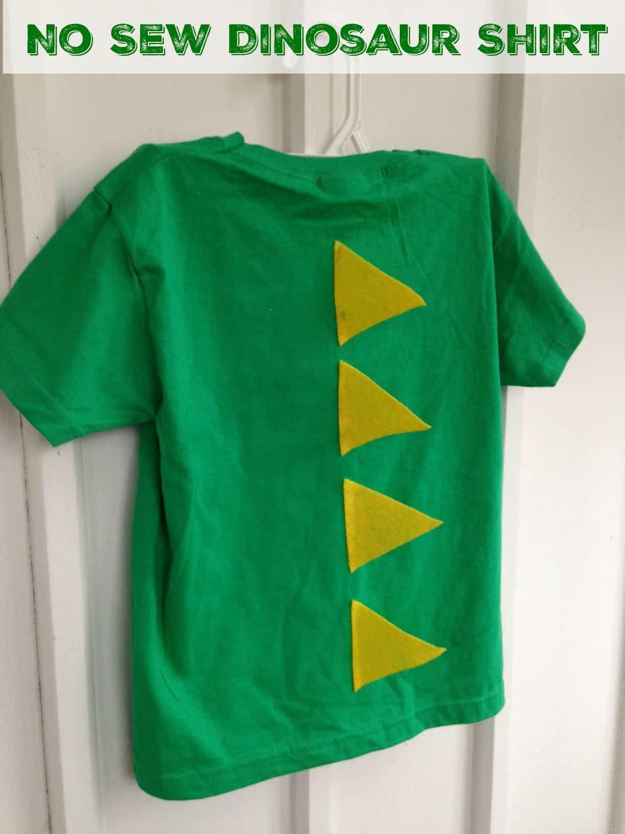 Easy no sew dinosaur shirt! Cute dino t-shirt you can DIY